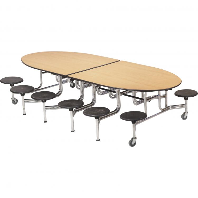 Mobile Stool Table