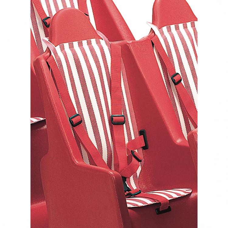 Bye-Bye Buggy - Red/White Striped Seat Pad